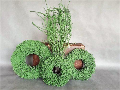 Wianki i bukiety zielone