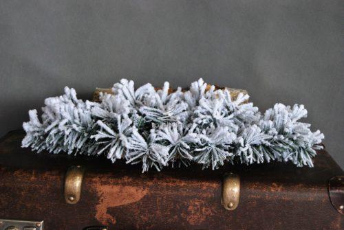 Podkład pod stroik śnieżony na biało