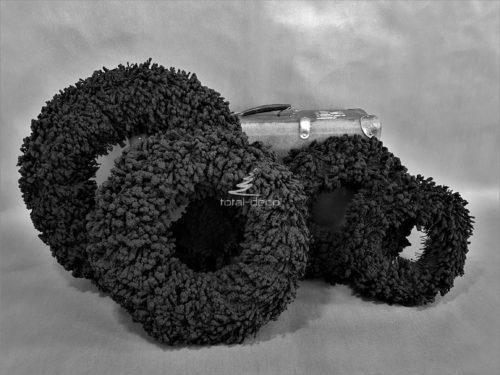 Czarne wianki flokowane grube i solidne puchate od floku bardzo dekoracyjne